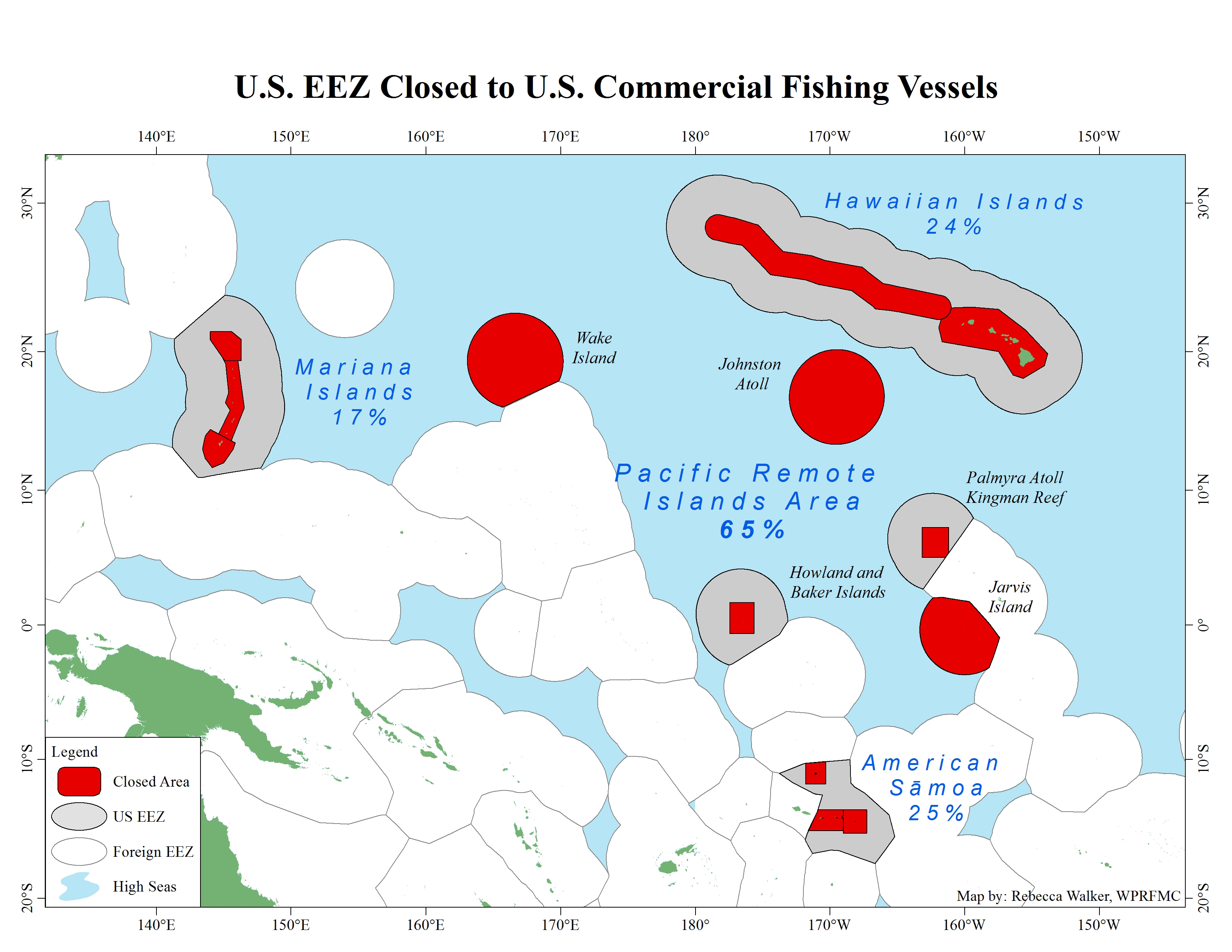 Press Release Western Pacific Fishery Management Council - Us eez map
