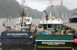 American Samoa longline vessels docked at Pago Pago harbor.