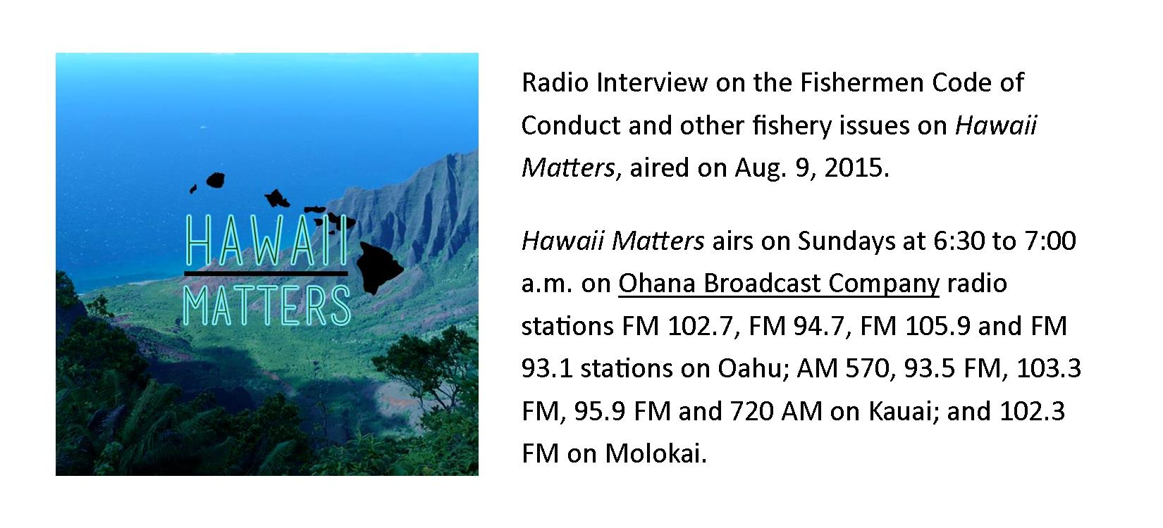 Hawaii Matter ad pic