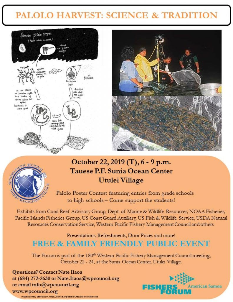 Fishers Forum - American Samoa Palolo Harvest: Science and Tradition